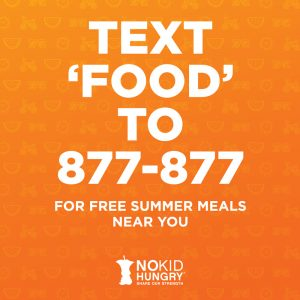 text 'food' to 877-877